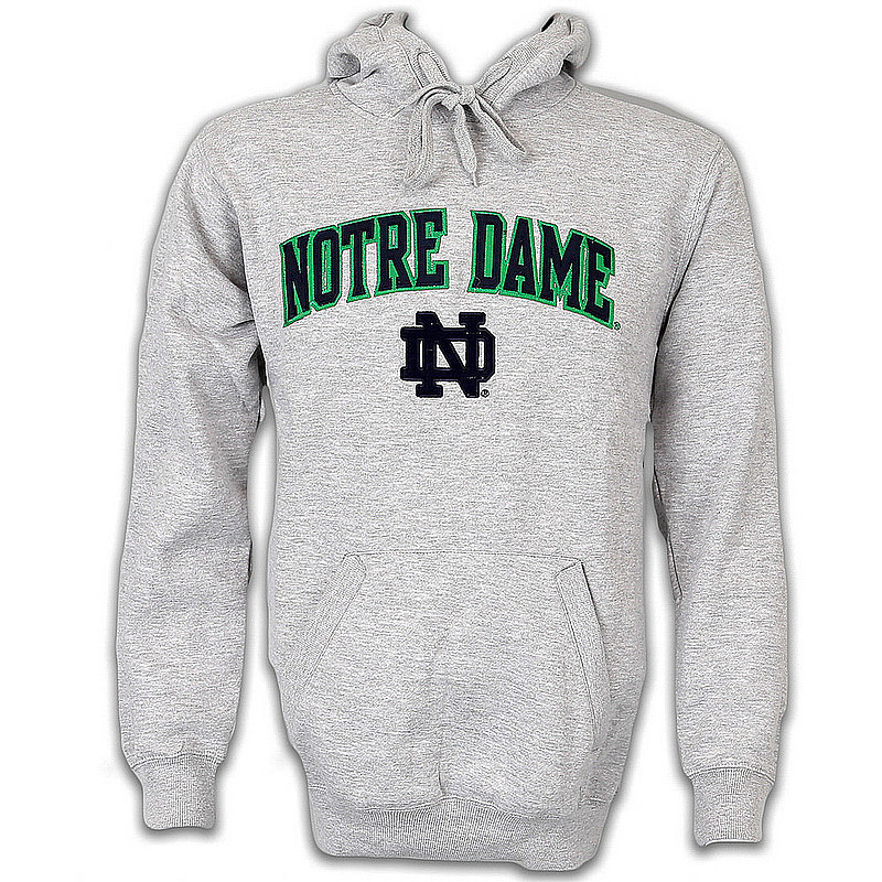 Notre Dame Fighting Irish Fleece Hooded Sweatshirt Heather Gray KA 707IC 97