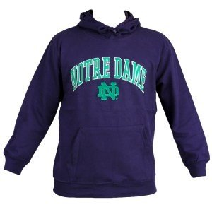 Notre Dame Fighting Irish Mens Hoodie Navy Twill 406YY