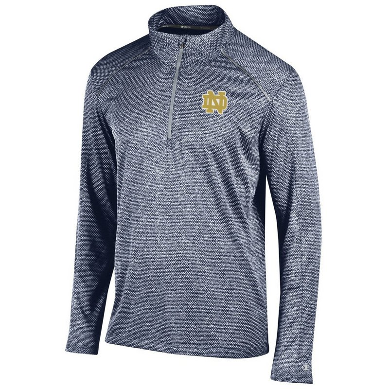 Notre Dame Fighting Irish Quarter Zip Shirt Navy APC02770988