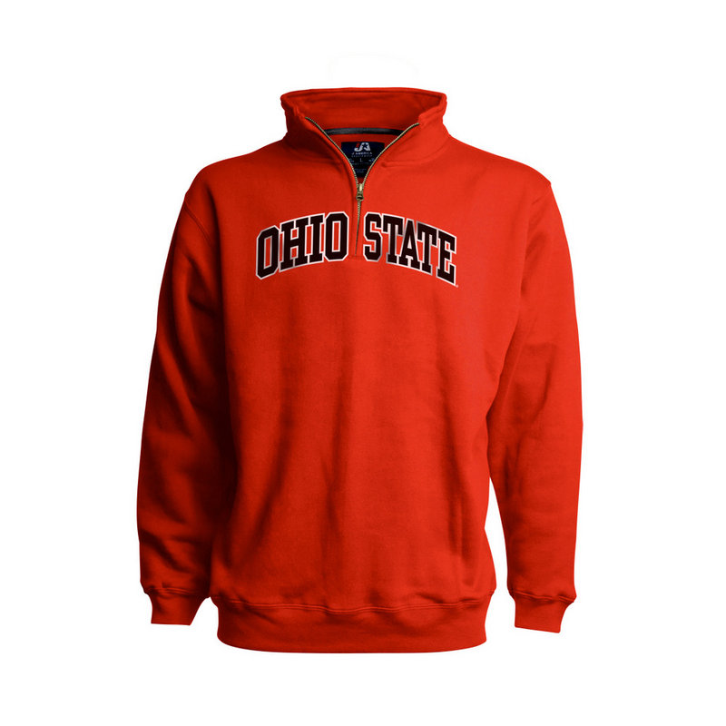 Ohio State Buckeyes Classic Quarter Zip Sweatshirt Red 394261