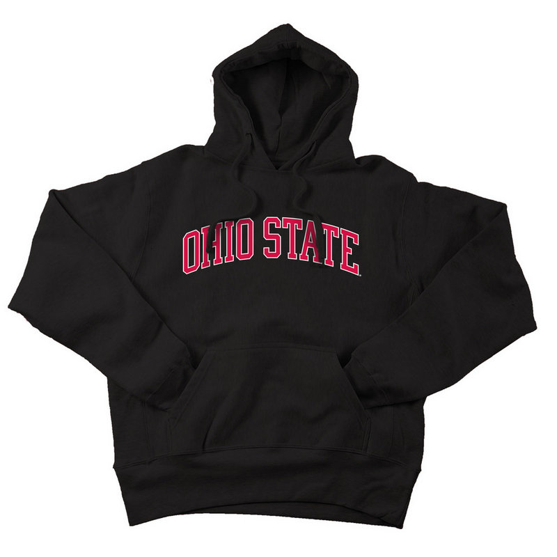 Ohio State Buckeyes Hooded Sweatshirt Black Applique 393968