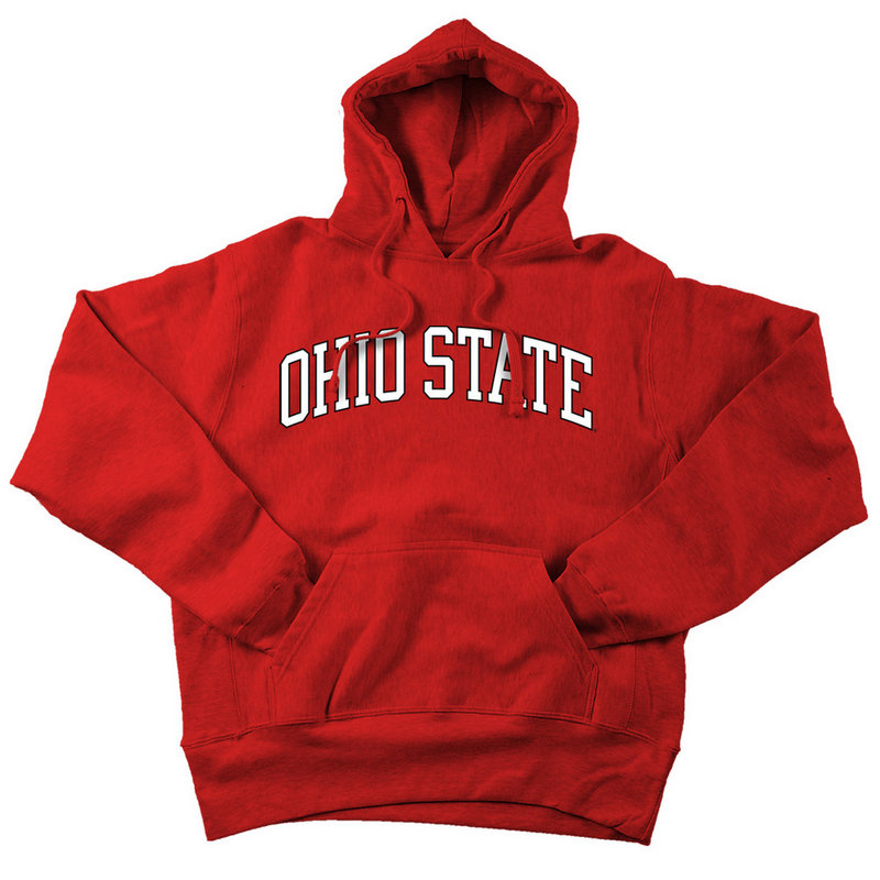 Ohio State Buckeyes Hooded Sweatshirt Red Applique 393968