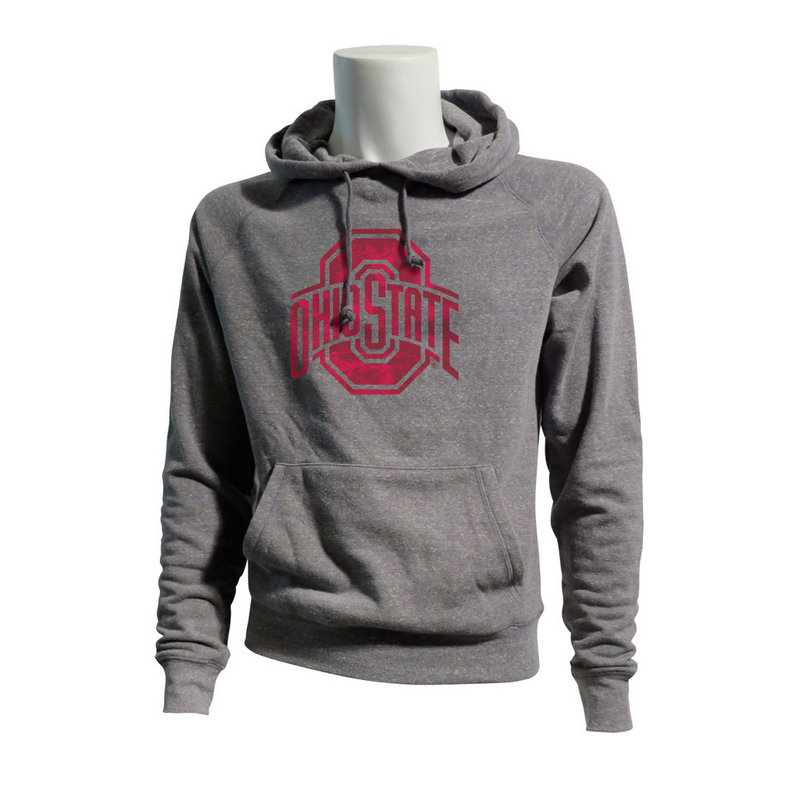 Ohio State Buckeyes Tri Blend Hooded Sweatshirt 394282