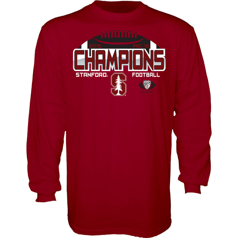 Stanford Cardinals 2015 PAC 12 Champs Long Sleeve T Shirt 0000000002BFS