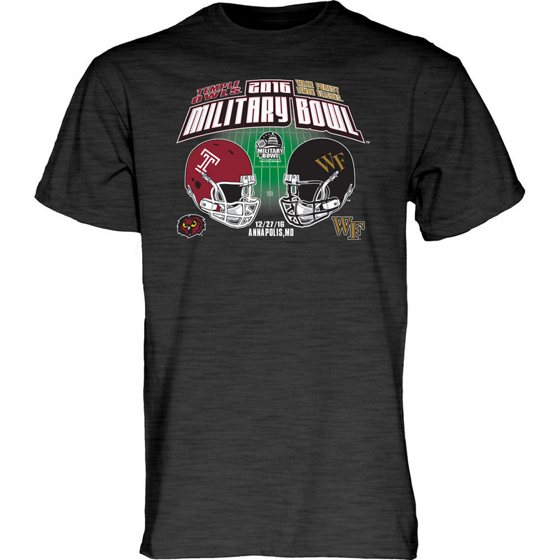 Temple Vs Wake Forest Military Bowl Tshirt Charcoal RUMOR MIL16 2T-MIL