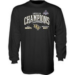 UCF Knights American Champs Long Sleeve Tshirt 2017 Black GILT AAC17 FOOT CHAMP-CFL
