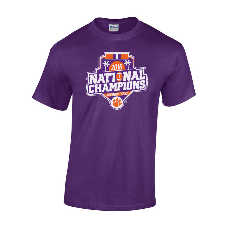 Clemson Tigers 2016 National Champions TShirt Purple (2017 championship)