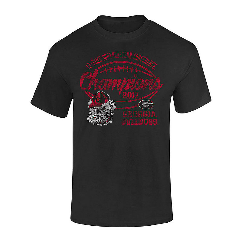 Georgia Bulldogs SEC Champs Tshirt 2017 Black Vintage