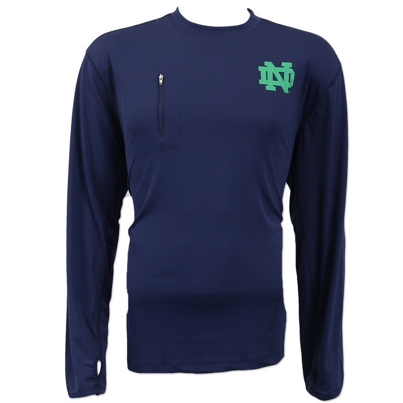 Notre Dame Fighting Irish Performance Long Sleeve TShirt Navy