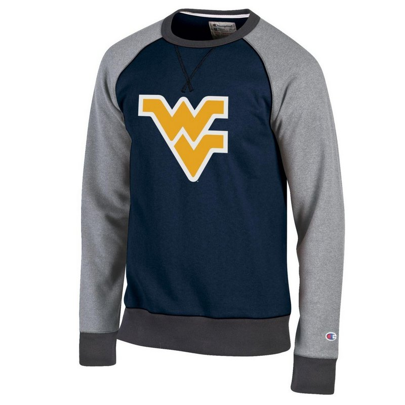 West Virginia Mountaineers Crewneck Sweatshirt Navy