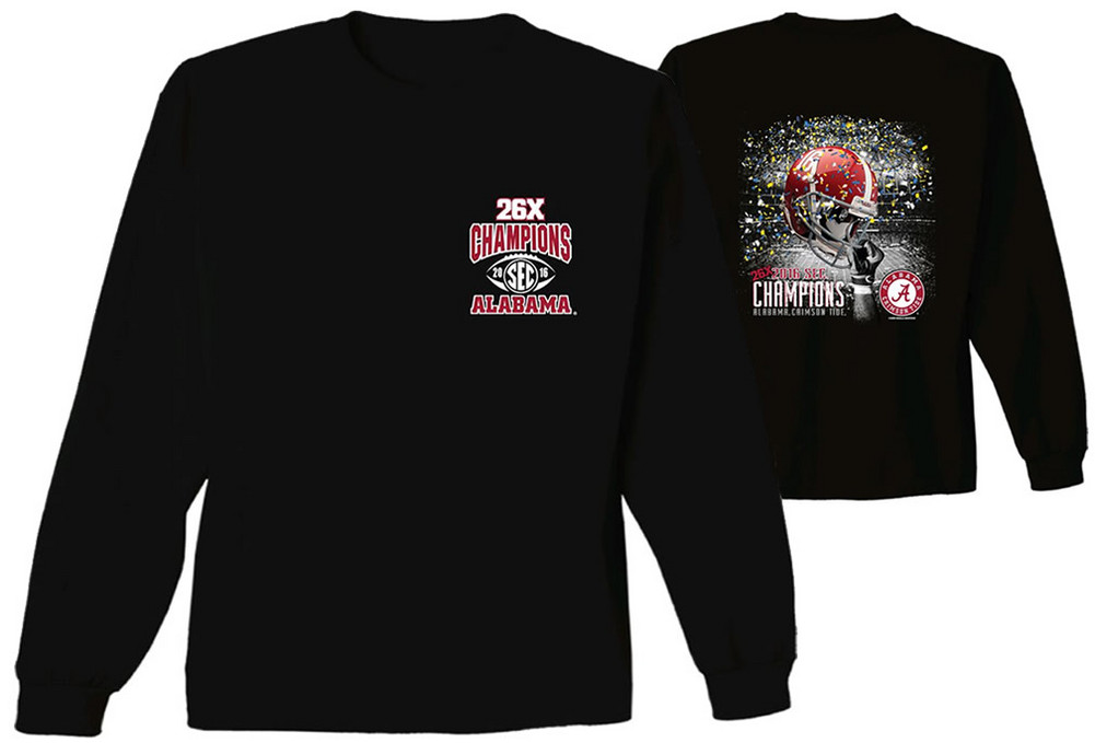 Alabama crimson tide sec champs long sleeve tshirt black Alabama sec championship shirt