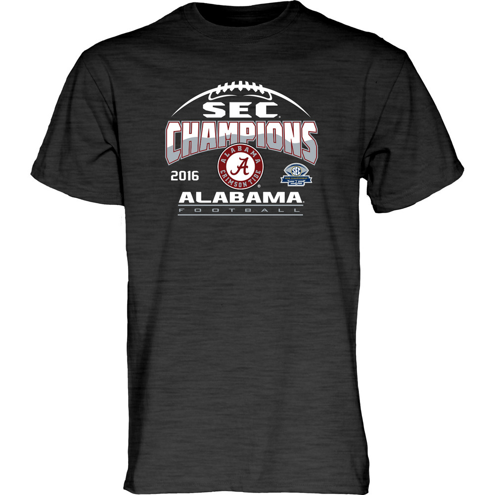 Alabama crimson tide sec champs tshirt charcoal 2016 Alabama sec championship shirt