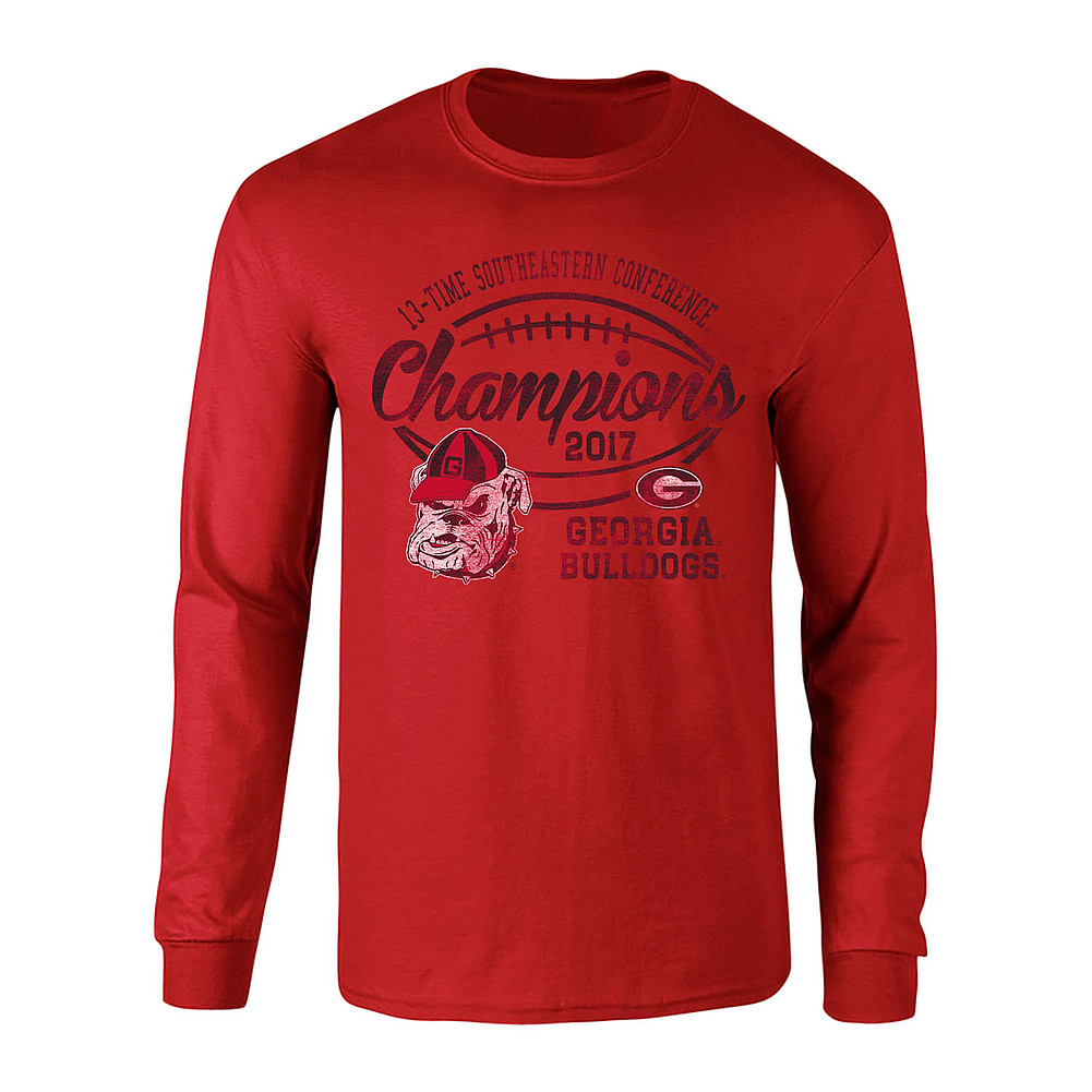 Georgia Bulldogs Sec Champs Long Sleeve Tshirt 2017 Red