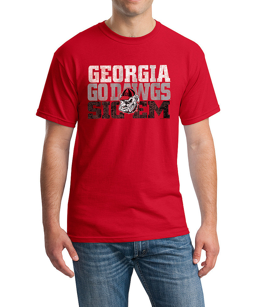 Georgia bulldogs tshirt red p0005488 Alabama sec championship shirt