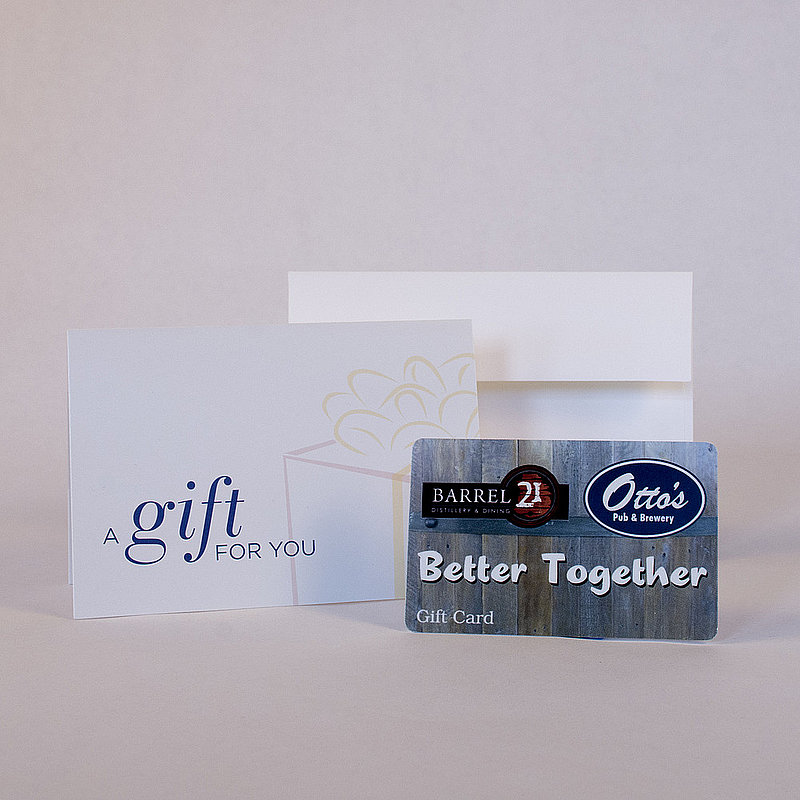 $25 Otto's or Barrel 21 Gift Card