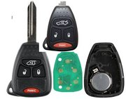 Chrysler Dodge Jeep OEM Chrysler Dodge Jeep 4 Button KOBDT04A 05183349AA Keyless Remote Entry Clicker w/ New Key Refurbished DJC2 (Chrysler Dodge Jeep)