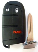 Dodge OEM 3 Button M3N-40821302 Dodge Smartkey Keyless Remote Control w/ New Key Pre-Owned 27F1d (Dodge)