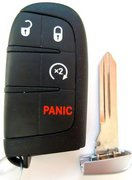 Dodge OEM 4 Button Starter M3N-40821302 Dodge Chrysler Smartkey Keyless Remote Control w/ New Key Pre-Owned 27F2 (Dodge)
