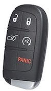 Dodge OEM 5 Button Trunk and Starter 68150061AC Dodge Smartkey Keyless Remote Control w/ New Key Pre-Owned 27F4a (Dodge)