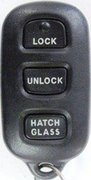 Toyota OEM Toyota 3 Button (No Panic) FCC ID: GQ43VT14T Keyless Remote Entry Clicker w/ Hatch / Hatch Glass Button Pre-Owned 132 (Toyota)