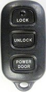 Toyota OEM Toyota 4 Button FCC ID: GQ43VT14T Keyless Remote Entry Clicker w/ Power Door Pre-Owned 133 (Toyota)