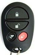 Toyota OEM Toyota 4 Button Power Sliding Door GQ43VT20T Keyless Remote Entry Clicker Pre-Owned 139B (Toyota)