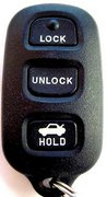 Toyota OEM Toyota 4 Button w/ Trunk FCC ID: HYQ12BBX Keyless Remote Entry Clicker Pre-Owned 135B (Toyota)