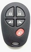 Toyota OEM Toyota 5 Button GQ43VT20T Keyless Entry Remote Control Entry Clicker Transmitter Keyfob Key FOB Automatic Vehicle Car Van Power Sliding Door Opener Pre-Owned 140po (Toyota)