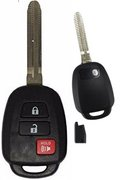 Toyota Toyota 3 Button GQ4-52T 'H' Stamp 89071-0R040 89070-0R120 0R121 Keyless Remote Entry Clicker Control Transmitter Transponder Chip Keyfob FOB New Key New 121Dno (Toyota)