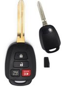 Toyota Toyota 4 Button GQ4-52T 'H' Stamp 89070-0R100 0R101 Vehicle Keyless Remote Entry Clicker Control Transmitter Keyfob FOB Transponder Chip w/ New Key Refurbished 121Cg (Toyota)