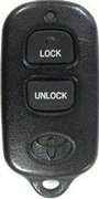 Toyota Toyota Dealer-Installed Vehicle VIP RS3200 PT39807100 Security System 3 Button FCC ID BAB237131-056 Keyless Remote Entry Clicker Control Transmitter Red Led Pre-Owned 127Ao (Toyota)