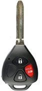 Toyota Toyota HYQ12BBY 3 Button NO Chip Keyless Remote Entry Clicker with New Key Blade Refurbished 122An (Toyota)