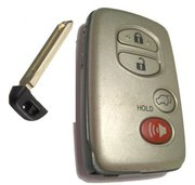 Toyota UNLOCKED Toyota Smartkey 4 Button Silver HYQ14ACX Keyless Remote Entry Clicker with New Key UNLOCKED 120B1b (Toyota)