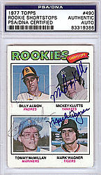 1977 Rookie Shortstops Autographed 1977 Topps Card - PSA/DNA Certified - Signed Baseball Cards