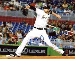 Adam Conley Miami Marlins Autographed 8x10 Photo - Certified Authentic