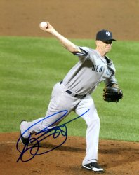 AJ Burnett New York Yankees Autographed 8x10 Photo - Certified Authentic