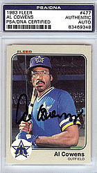 Al Cowens Autographed 1983 Fleer Card #477 - PSA/DNA Certified - Signed Baseball Cards