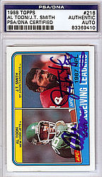 Al Toon/J.T. Smith Autographed 1988 Topps Card - PSA/DNA Certified - Signed Football Cards