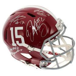 Alabama Crimson Tide Autographed Team Riddell Speed Replica Helmet - Certified Authentic