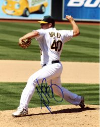 Andrew Bailey Oakland Athletics Autographed 8x10 Photo - Certified Authentic