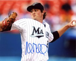 Andrew Miller Miami Marlins Autographed 8x10 Photo - Certified Authentic