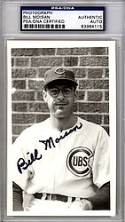 Bill Moisan Autographed 3.5x5.5 Photo Chicago Cubs - PSA/DNA Certified