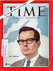 Bill Moyers Autographed Time Magazine - Beckett Certified