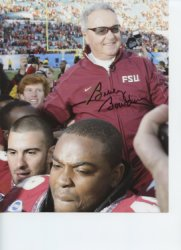 Bobby Bowden Florida State Seminoles Autographed 8x10 Photo - Certified Authentic