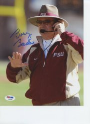 Bobby Bowden Florida State Seminoles Autographed 8x10 Photo - PSA/DNA Authentic