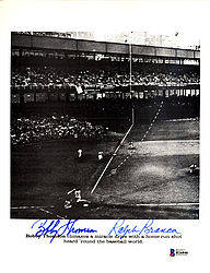 Bobby Thomson & Ralph Branca Autographed 8.5x11 Photo - Beckett Certified