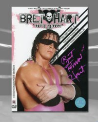 Bret Hitman Hart WWE Autographed The Best Wrestling DVD Collectors Set