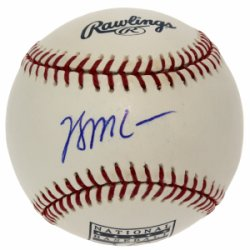 Brian McCann Autographed National Baseball Hall of Fame Baseball - Certified Authentic Autographed - Signed MLB Baseballs
