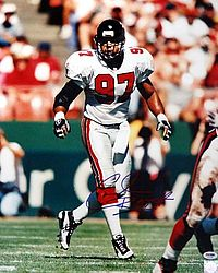 Cornelius Bennett Autographed 16x20 Photo Atlanta Falcons - PSA/DNA Certified - Signed NFL Football Photos