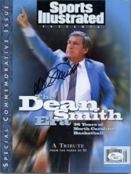 Dean Smith Autographed Sports Illustrated Special Commemorative Issue - JSA Certified Authentic